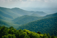 View of the Blue Ridge from Blackrock Summit, in Shenandoah Nati Royalty Free Stock Image