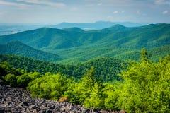 View of the Blue Ridge from Blackrock Summit, in Shenandoah Nati Royalty Free Stock Photos