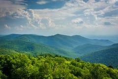 View of the Blue Ridge from Blackrock Summit, in Shenandoah Nati Stock Photos