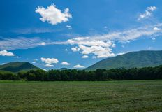 View of the Blue Ridge Mountains from Arnold Valley. A view of the Blue Ridge Mountains from Arnold Valley located in Rockbridge County, Virginia, USA Royalty Free Stock Photos