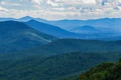 Blue Ridge Mountains on a Cloudy day. A View of the Blue Ridge Mountains on a cloudy from the Blue Ridge Parkway, Virginia, USA stock photos