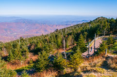 View of the Blue Ridge Mountains during fall season. From parkway royalty free stock photography