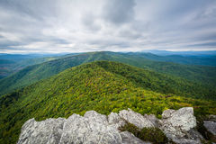 View of the Blue Ridge Mountains from Hawksbill Mountain, on the Royalty Free Stock Images