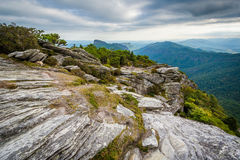 View of the Blue Ridge Mountains from Hawksbill Mountain, on the stock photography