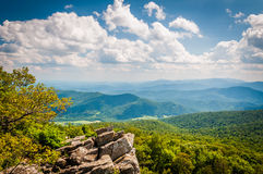 View of the Blue Ridge Mountains from North Marshall Mountain in. Shenandoah National Park, Virginia Royalty Free Stock Photo
