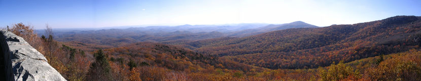 View from blue ridge parkway Stock Images