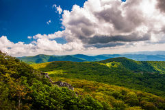 View of the Blue Ridge  in Shenandoah National Park Royalty Free Stock Photography