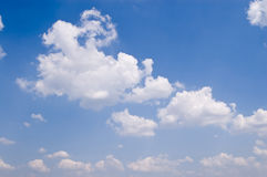 View of blue sky. With white clouds Stock Photography