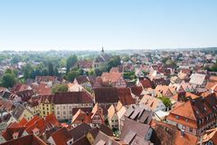 View from Blue tower of the old town of bad wimpfen Royalty Free Stock Photos