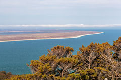 View from the Bluff Hill Lookout, Southland, New Zealand Stock Image