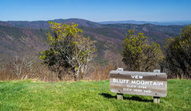 View of Bluff Mountain – Elevation 3794 feet Royalty Free Stock Photo