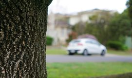 View of blurred car as dream car stock photo