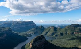 View of the Blyde River Canyon on the Panorama Route, Mpumalanga, South Africa royalty free stock photography