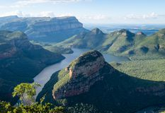 View of the Blyde River Canyon on the Panorama Route, Mpumalanga, South Africa stock images