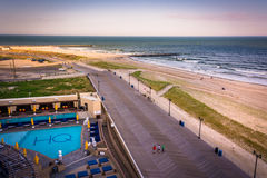 View of the boardwalk in Atlantic City, New Jersey. Stock Images