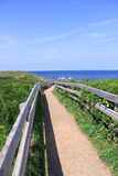 View of boardwalk leading to the beach Royalty Free Stock Photo