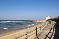 View from Boardwalk at Umdloti Beach, Durban, South Africa Royalty Free Stock Image