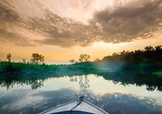 Boat on Amazon in Brazil. View on boat on Amazon in Brazil royalty free stock photography