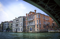 The view from the boat on the building of the Giudecca canal. Venice. Stock Photos
