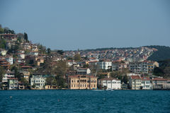 View from boat. Building house sea istanbul turkey Stock Photo