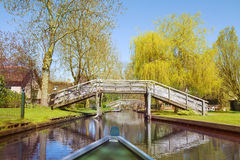 View from a boat on Giethoorn Stock Image