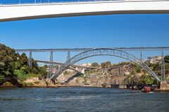 Six Bridges River Cruise, Porto, Portugal. royalty free stock photography