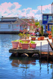 View of the boat house dock Royalty Free Stock Images