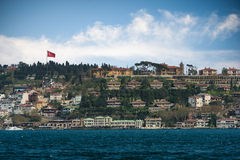 View from boat. Boat istanbul turkey building travvel Royalty Free Stock Photos
