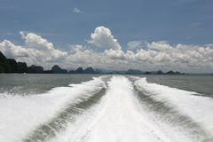 View from the boat. Thailand Stock Images