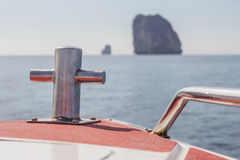 The view from the boat to the sea. Stock Photo