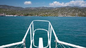 View from the boat in Turkey. Timelapse stock footage