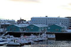 Iceland Travel. A view of boats at the harbor in Reykjavik, Iceland Royalty Free Stock Photography