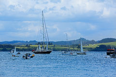 View of boats at the harbour in Russell, New Zealand Royalty Free Stock Photo
