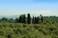 View from the Boboli Gardens in Florence Tuscany Stock Images