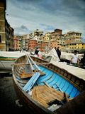 Genova Boccadasse waterfront view. View of the Boccadasse harbor in Genoa Italy stock photos