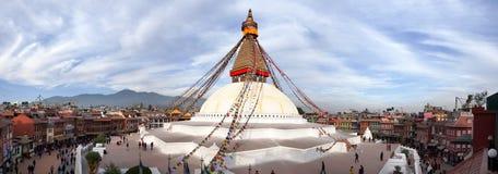 View of Bodhnath stupa Royalty Free Stock Photo
