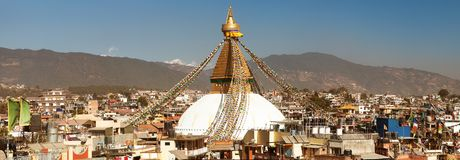 Bodhnath stupa, biggest stupa in Kathmandu city Stock Photo