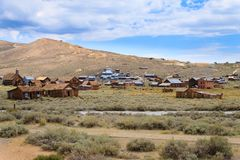 Bodie ghost town. View from Bodie Ghost Town, California USA. Old abandoned mine Royalty Free Stock Image