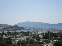 View of Bodrum city Stock Images