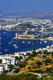 View of Bodrum harbor and Castle of St. Peter Royalty Free Stock Photos