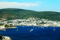 View of Bodrum harbor. Royalty Free Stock Image