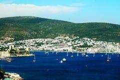 View of Bodrum harbor. View of Bodrum harbor, Turkey Royalty Free Stock Image