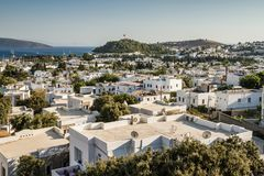 View of Bodrum Town from Antique Theatre royalty free stock image