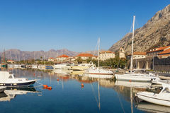 View of Boka Kotorska Bay near Kotor city. Montenegro Stock Photos