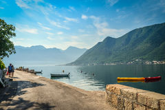 View on  Boka Kotorska bay Stock Images