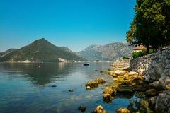 View on Boka Kotorska bay Royalty Free Stock Photo