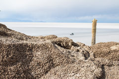 View of the Bolivian salt flats Royalty Free Stock Photography