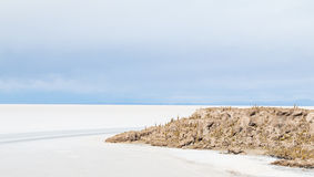 View of the Bolivian salt flats Stock Photos