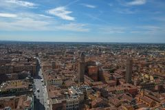 View of Bologna city, Italy royalty free stock images