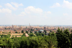 View of the Bologna City. View of the city from Saint Michael's Church on a hill overlooking the city Royalty Free Stock Photos
